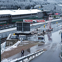 Snow on race day early in the morning on 04/05/2019 at the Spa 6H, 2019