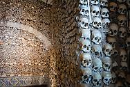 Chapel of the Bones (Capela dos Ossos, 17th century), at the Royal church of S Francisco (Igreja real de S Francisco, 15th-16th century). Évora, Alentejo, Portugal © Rudolf Abraham