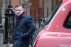© Licensed to London News Pictures. 10/12/2019. London, UK. Shadow Secretary of State for Health and Social Care Jon Ashworth arrives at Millbank .  Photo credit: George Cracknell Wright/LNP