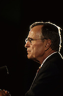 President HW Bush, Bush 41, speaking in Chicao in  October 1992..Photograph by Dennis Brack bb24