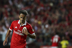 August 9, 2017 - Lisbon, Portugal - Benfica's forward Jonas celebrates after scoring a goal during the Portuguese League  football match between SL Benfica and SC Braga at Luz  Stadium in Lisbon on August 9, 2017. (Credit Image: © Carlos Costa/NurPhoto via ZUMA Press)