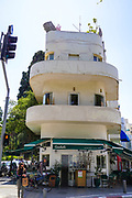 Bauhaus Architecture at Yehuda ha-Levi St 58 Tel Aviv White City. The White City refers to a collection of over 4,000 buildings built in the Bauhaus or International Style in Tel Aviv from the 1930s by German Jewish architects who emigrated to the British Mandate of Palestine after the rise of the Nazis. Tel Aviv has the largest number of buildings in the Bauhaus/International Style of any city in the world. Preservation, documentation, and exhibitions have brought attention to Tel Aviv's collection of 1930s architecture.