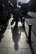 Shadows on Dame St., Dublin
