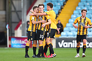 GOAL Cambridge United 1- Scunthorpe United 0 Paul Mullin is congratulated after scoring from the spot during the EFL Sky Bet League 2 match between Scunthorpe United and Cambridge United at Glanford Park, Scunthorpe, England on 17 October 2020.
