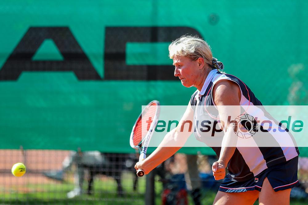 Susanne Burkhardt (Tennisklub Grün-Weiss Mannheim e.V.) - 2. Platz Damen 50, Känguruhs-Open 2018, Finaltag, Berlin, 22.04.2018, Foto: Claudio Gärtner
