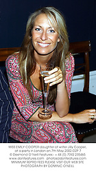 MISS EMILY COOPER daughter of writer Jilly Cooper, at a party in London on 7th May 2002.OZP 7