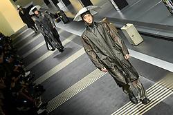 Models on the catwalk during the Fendi show at Milan Men's Fashion Week
