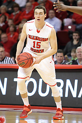 18 March 2015:   Justin McCloud during an NIT men's basketball game between the Green Bay Phoenix and the Illinois State Redbirds at Redbird Arena in Normal Illinois