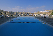 """Pool at the Crowne Plaza Resort at Wadi Mousa. The hotel is just outside of the lost city of Petra, which was recently named one of the """"Seven Modern Wonders of the World"""" - Jordan..PETRA"""