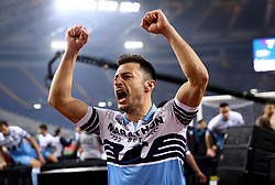 March 2, 2019 - Rome, Lazio, Italy - SS Lazio v As Roma : Serie A.Stefan Radu of Lazio celebration at Olimpico Stadium in Rome, Italy on March 2, 2019. (Credit Image: © Matteo Ciambelli/NurPhoto via ZUMA Press)