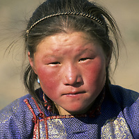 MONGOLIA, Daughter of Umgan, a shaman.  As her father ages, she will inherit his skills and trade.