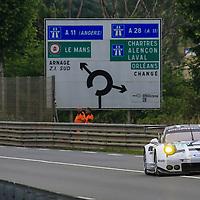 #91, Porsche 911 RSR (2016), Porsche Motorsport, driven by Patrick Pilet, Kevi Estre, Nick Tandy, 24 Heures Du Mans Test Day, 05/06/2016,