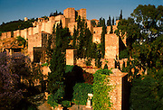 SPAIN, COSTA DEL SOL Malaga; the Gibralfaro Alcazaba