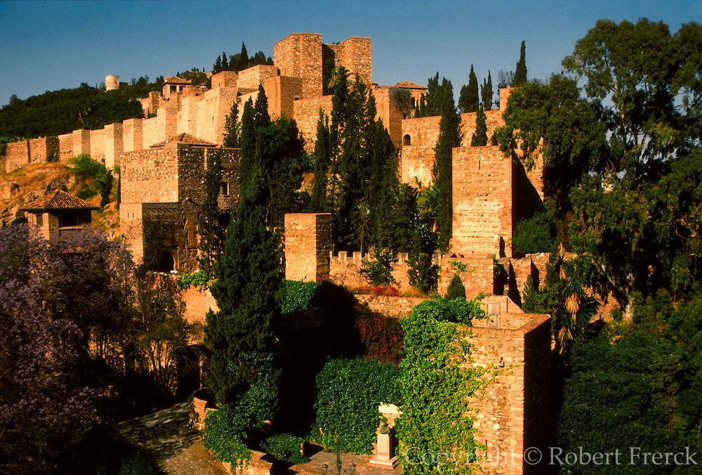 SPAIN, COSTA DEL SOL Malaga; the Gibralfaro Alcazaba