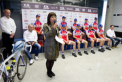 Mojca Novak, president of the club at press conference of Pro Cycling Team Adria Mobil Novo mesto before new season, on March 8, 2011 at ACH, Ljubljana, Slovenia. (Photo By Vid Ponikvar / Sportida.com)