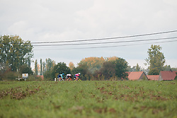 Early attempt at a break at the 2020 Ronde van Vlaanderen - Elite Women, a 135.6 km road race starting and finishing in Oudenaarde, Belgium on October 18, 2020. Photo by Sean Robinson/velofocus.com
