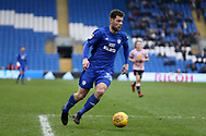 Yanic Wildschut of Cardiff city in action.  EFL Skybet championship match, Cardiff city v Sunderland at the Cardiff city stadium in Cardiff, South Wales on Saturday 13th January 2018.<br /> pic by Andrew Orchard, Andrew Orchard sports photography.