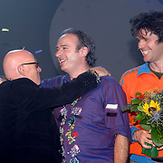 NLD/Tilburg/20061105 - Premiere Oebele, cast, Joop Stokkermans, Nol havens en Joris Lutz