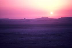Saudi Arabia desert sunrise on the Qatar border.