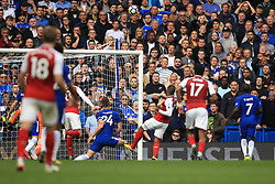 17 September 2017 -  Premier League - Chelsea v Arsenal - Alexandre Lacazette of Arsenal misses from close range - Photo: Marc Atkins/Offside