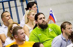 Bostjan Gorenc - Pizama during friendly match between National teams of Slovenia and Latvia for Eurobasket 2013 on August 2, 2013 in Arena Zlatorog, Celje, Slovenia. Slovenia defeated Latvia 71-67. (Photo by Vid Ponikvar / Sportida.com)