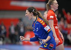 KOLDING, DENMARK - DECEMBER 5: Eliza Buceschi during the EHF Euro 2020 Group D match between Poland and Romania in Sydbank Arena, Kolding, Denmark on December 5, 2020. Photo Credit: Allan Jensen/EVENTMEDIA.