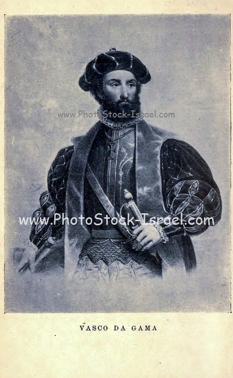 Vasco da Gama [Vasco da Gama, 1st Count of Vidigueira (1460  – 24 December 1524), was a Portuguese explorer and the first European to reach India by sea. His initial voyage to India (1497–1499) was the first to link Europe and Asia by an ocean route, connecting the Atlantic and the Indian oceans and therefore, the West and the Orient. This is widely considered a milestone in world history, as it marked the beginning of a sea-based phase of global multiculturalism. Da Gama's discovery of the sea route to India opened the way for an age of global imperialism and enabled the Portuguese to establish a long-lasting colonial empire in Asia]. from the book ' A history of South Africa ' by Dorothea Fairbridge, Published in London by Oxford Univ. Press in 1911