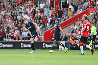 Football - 2021/ 2022 Premier League - Southampton vs. West Ham United - St Mary's Stadium - Saturday 11th August<br /> <br /> Declan Rice of West Ham United feels a slight pull after fouling Southampton's Tino Livramento during the Premier League match at St Mary's Stadium Southampton <br /> <br /> COLORSPORT/Shaun Boggust