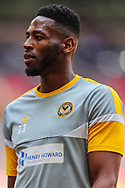 Newport County forward Jamille Matt (11) warms up prior to the EFL Sky Bet League 2 Play Off Final match between Newport County and Tranmere Rovers at Wembley Stadium, London, England on 25 May 2019.