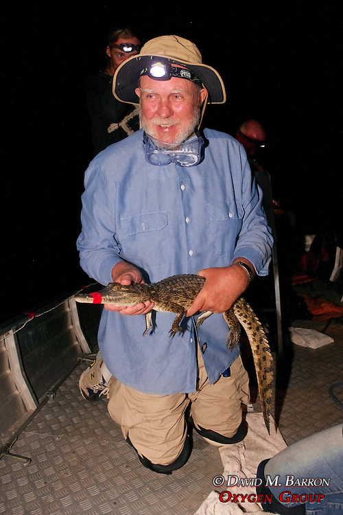 Richard Ferris Holding Crocodile