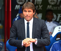 October 14, 2017 - London, England, United Kingdom - Chelsea manager Antonio Conte ..during Premier League  match between Crystal Palace and Chelsea at Selhurst Park Stadium, London,  England on 14 Oct 2017. (Credit Image: © Kieran Galvin/NurPhoto via ZUMA Press)