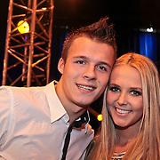 NLD/Hilversum/20110130 - Nationaal Songfestival 2011, Monique Smit en partner Jeffrey Bok