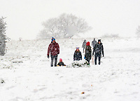 Families during the fist lockdown of the year enjoying the the first settled snow in stratford upon Avon in probably 3 years  Photo by Mark Anton Smith