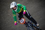 #43 (QUINALHA Bianca) BRA at the 2013 UCI BMX Supercross World Cup in Chula Vista