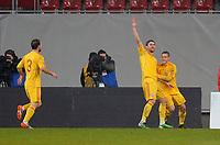 """Esultanza dopo il gol 0-1 di Ciprian MARICA<br /> Klagenfurt, 17/11/2010 Stadio """"Wortersee""""<br /> Italia-Romania<br /> Amichevole internazionale<br /> Foto Nicolo' Zangirolami Insidefoto"""
