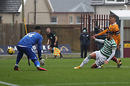 Albian Ajeti (Celtic) shoots wide during the Scottish Premiership match between Motherwell and Celtic at Fir Park, Motherwell, Scotland on 8 November 2020.