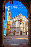 """Pienza, a town and comune in the province of Siena, in the Val d'Orcia in Tuscany (central Italy), between the towns of Montepulciano and Montalcino, is the """"touchstone of Renaissance urbanism"""""""