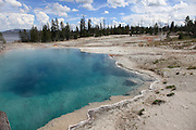 The geothermal pools at the edge of Yellowstone Lake in Yellowstone National Park.
