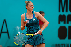 May 7, 2019 - Madrid, MADRID, SPAIN - Kristyna Pliskova of the Czech Republic in action during her second-round match at the 2019 Mutua Madrid Open WTA Premier Mandatory tennis tournament (Credit Image: © AFP7 via ZUMA Wire)