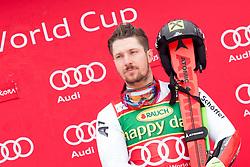 Winner Marcel Hirscher of Austria during flower ceremony after Men's GiantSlalom race of FIS Alpine Ski World Cup 57th Vitranc Cup 2018, on March 3, 2018 in Kranjska Gora, Slovenia. Photo by Urban Urbanc / Sportida