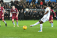 Football - 2018 / 2019 Championship - Swansea City vs Aston Villa<br /> … at the Liberty Stadium.<br /> <br /> Wilfried Bony of Swansea City misses a penalty <br /> <br /> Credit: COLORSPORT/Winston Bynorth