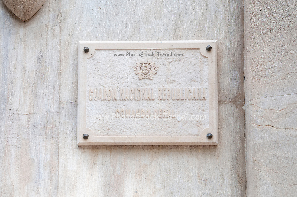 National Republican Guard (Guarda Nacional Republicana) General Headquarters in Largo do Carmo, Lisbon, Portugal