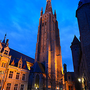 Church of Our Lady At Night, Brugge