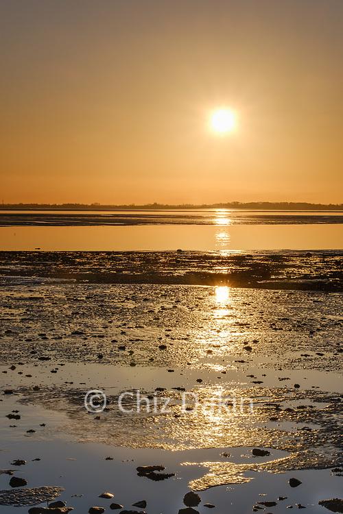 Sunset at Cockerham Sands, Lancs