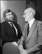 Meeting-break at of I.C.A.M. at Burlington Hotel, 44 Upper Mount Street, Dublin,<br /> 10th May 1984