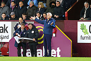 Crystal Palace Manager Alan Pardew looks on from the technical area. Premier League match, Burnley v Crystal Palace at Turf Moor in Burnley , Lancs on Saturday 5th November 2016.<br /> pic by Chris Stading, Andrew Orchard sports photography.