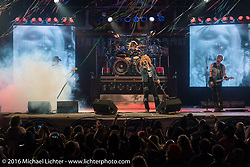 Hairball performs to a packed crowd at the Broken Spoke Saloon in Ormond Beach on the final Saturday night of Daytona Bike Week's 75th Anniversary event. FL, USA. Saturday March 12, 2016.  Photography ©2016 Michael Lichter.