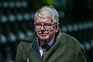 John Motson arrives ahead of the The FA Cup fourth round match between Barnet and Brentford at The Hive Stadium, London, England on 28 January 2019.