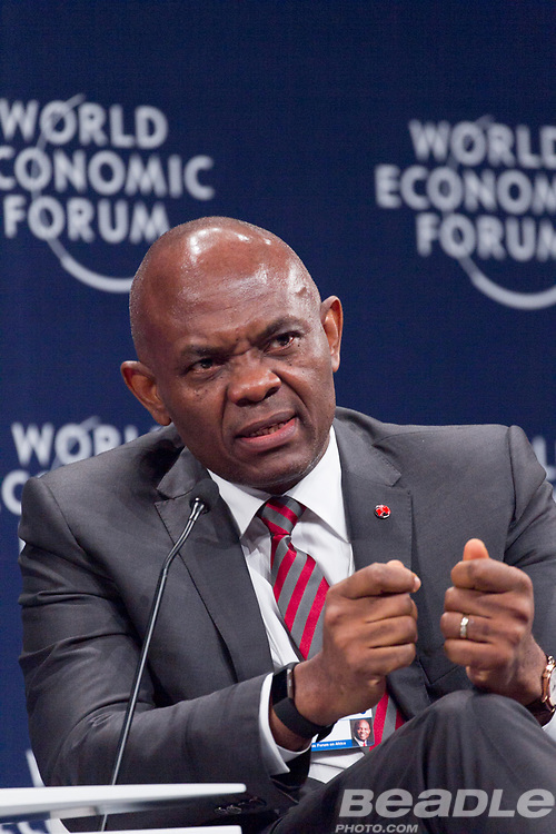 Tony O. Elumelu, Chairman<br /> UBA Group at the World Economic Forum on Africa 2017 in Durban, South Africa. Copyright by World Economic Forum / Greg Beadle