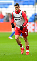 Middlesbrough's Martin Payero during the pre-match warm-up <br /> <br /> Photographer Ian Cook/CameraSport<br /> <br /> The EFL Sky Bet Championship - Cardiff City v Middlesbrough - Saturday 23rd October 2021 - Cardiff City Stadium - Cardiff<br /> <br /> World Copyright © 2020 CameraSport. All rights reserved. 43 Linden Ave. Countesthorpe. Leicester. England. LE8 5PG - Tel: +44 (0) 116 277 4147 - admin@camerasport.com - www.camerasport.com